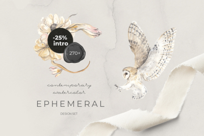EPHEMERAL: contemporary watercolor design set