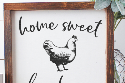 Home Sweet Farmhouse Cut File