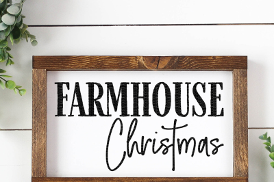 Farmhouse Christmas Cut File