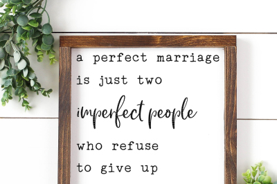 A Perfect Marriage Cut File