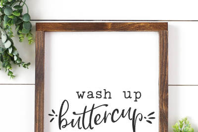 Wash Up Buttercup Cut File