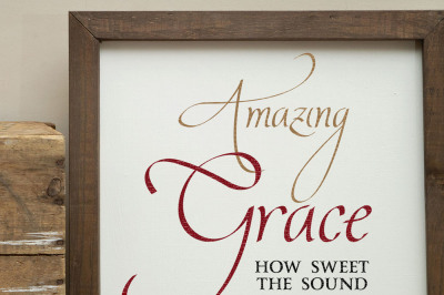 Amazing Grace How Sweet The Sound Cut File