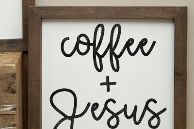Coffee And Jesus Cut File