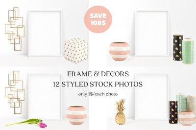 Frame & Decors - 12 Styled Mockups