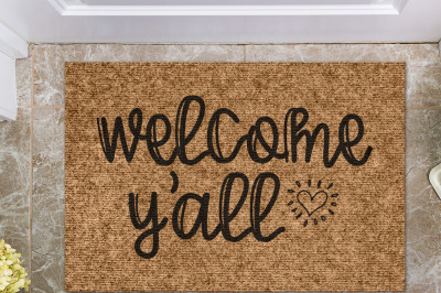 Welcome Y'all | Doormat Cut File