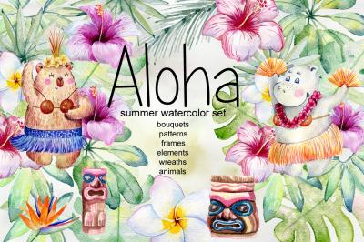 Aloha. Tropical collection.