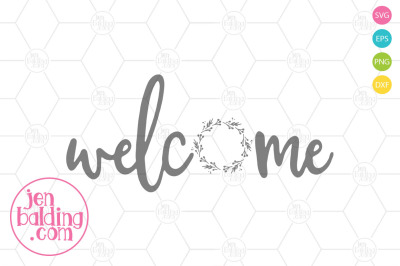 Welcome Wreath SVG