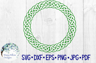 Celtic Knot Circle, Name Monogram Border Frame