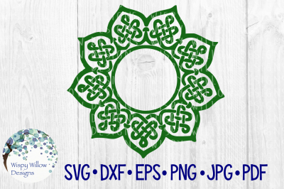 Celtic Knot Mandala, Name, Monogram, Frame, Border