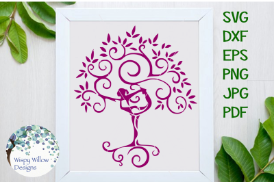 Yoga Tree Dancer SVG/DXF/EPS/PNG/JPG/PDF