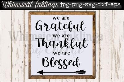 We Are Grateful SVG File