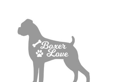 Boxer dog SVG