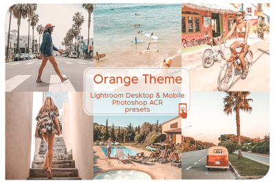 Orange Theme Lightroom Presets