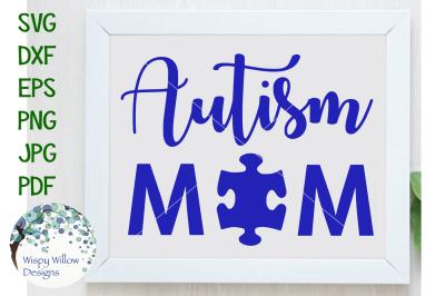 Autism Mom, Puzzle Piece SVG/DXF/EPS/PNG/JPG/PDF