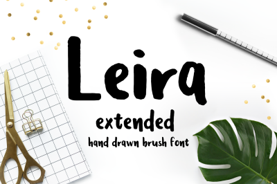 Leira Extended Hand Drawn Brush Font