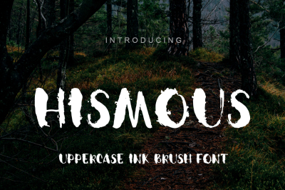 Uppercase brush ink dirty font