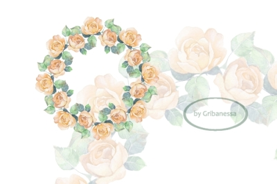 Beautiful floral wreath. Watercolor