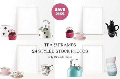Tea & Frames - 24 Styled Stock Photo