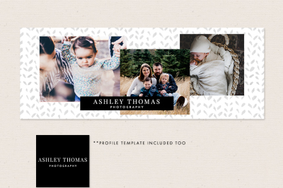 Facebook Timeline Cover & Profile Image Template - Modern Watercolor p