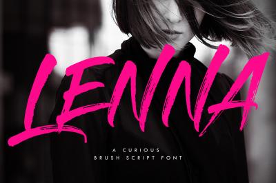 Lenna Font- A Modern & Bold Brush Font