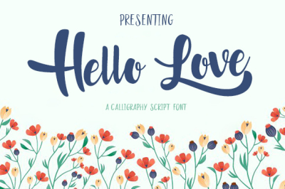 Hello Love-A Darling Cute Font