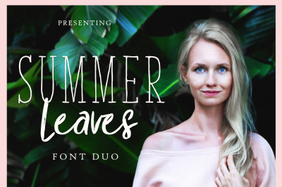 Summer Leaves-Font Duo