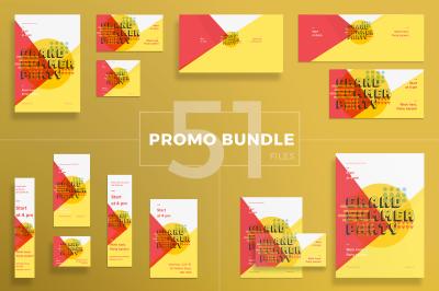 Design templates bundle | flyer, banner, branding | Summer Music Party