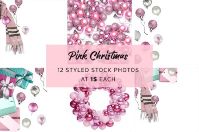Pink Christmas Styled Stock Bundle