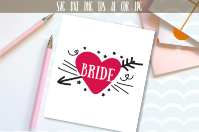 Bride svg, bride word, art cut file, and printable png