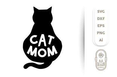 SVG Cut File: Cat Mom