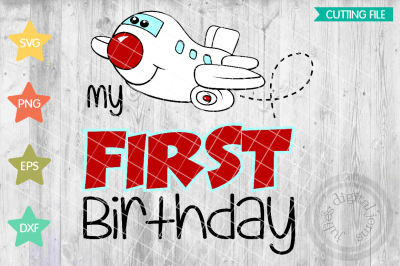 My First Birthday Airplane