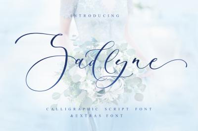 Sadlyne calligraphic font & extras