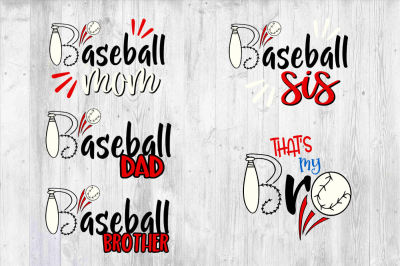 Baseball Family bundle