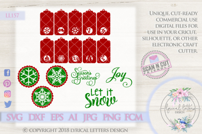 HUGE 16 Design Christmas Bundle SVG DXF FCM AI EPS JPG PNG LL157