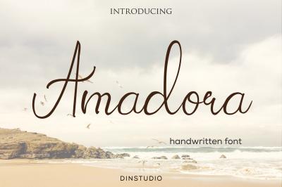 Amadora Handwritten Script