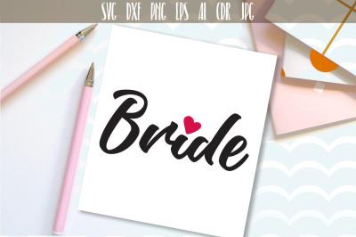 Bride svg, Wedding design, Handwritten Just Married Svg