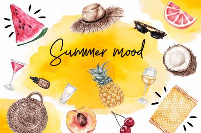 Summer Mood Watercolor Set