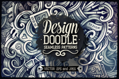 5 Design Graphic Doodles Patterns