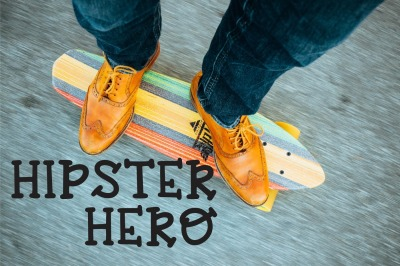 Hipster Hero: A Trendy Hand-Lettered Font