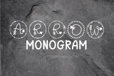Arrow Monogram: A Hand-Lettered Monogram Font