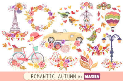ROMANTIC AUTUMN digital papers