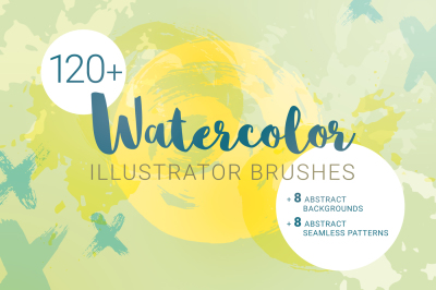 Watercolor Brushes for Illustrator