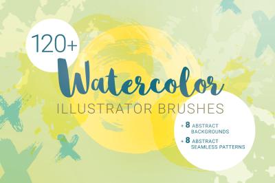 Watercolor Brushes for Illustrator