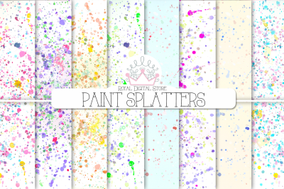 WATERCOLOR PAINT SPLATTERS