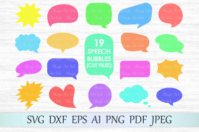 Speech bubbles SVG, DXF, EPS, AI, PNG, PDF, JPEG