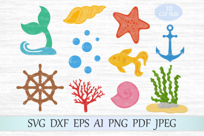 Under the sea SVG, DXF, EPS, AI, PNG, PDF, JPEG