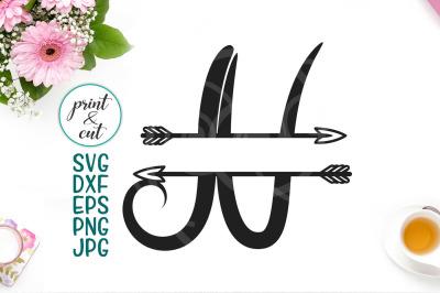 split monogram font N svg, letters with arrows, individual letters