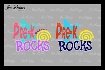 Pre K Rocks SVG DXF EPS PNG