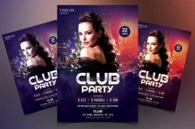 Club Party - DJ PSD Flyer Template