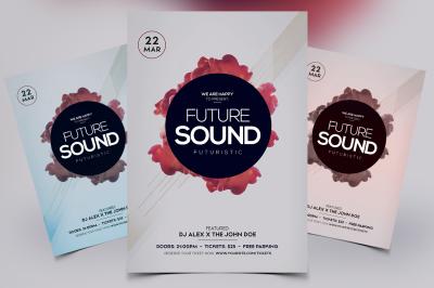 Futuristic Sound - PSD Flyer Template